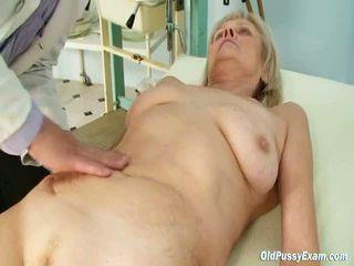 Mature Aged Brigita Having Chuf Exam From Experienced Gyno Doctor