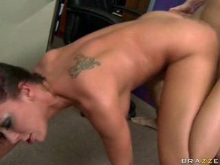 Pornstar fucking at sex shop