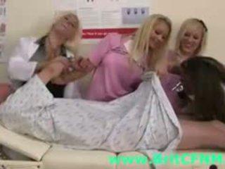 Naughty British CFNM Girls Play Nurse With Naked Guy