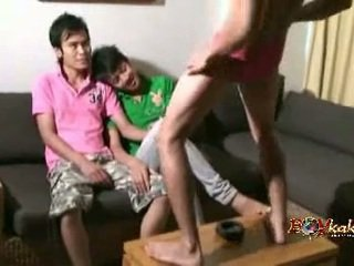 Coyote Boy. Three Thai Twinks Sucking Dicks