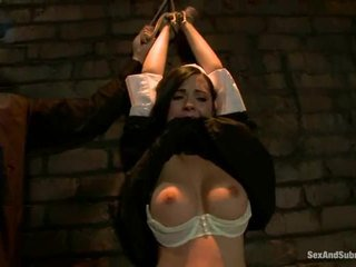 Corporal punishment إلى sinful راهبة angell summers