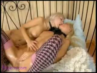 orgasm, girl on girl, strap on