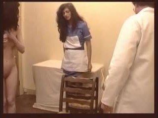 mooi verpleegkundigen, drietal mov, heet whipping film