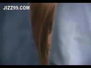 اليابانية, امرأة سمراء, في الهواء الطلق, الهاوي