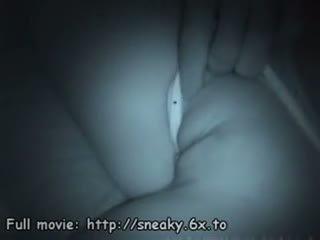 بصاصة الأفلام نائم فتاة