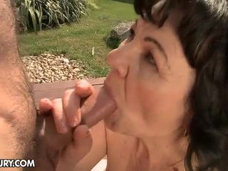 Aged Granny Doxy Helena May Fucked Outdoor