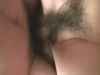 oriental granny receives good plow in her hairy snatch