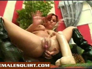 Sexy chicks hot solo squirting masturbations