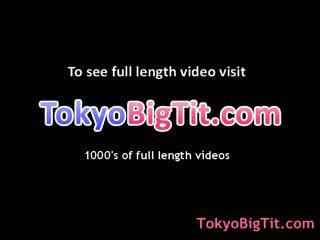 Big boobed asian rubbing Melons on shaft 8 by tokyobigtit