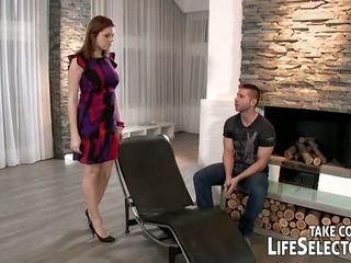 tits, brunette, big dick