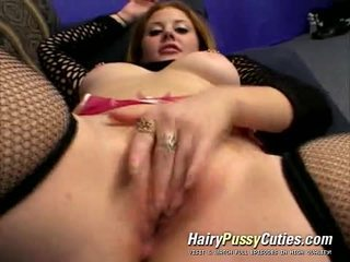 Two Men Share A Mouth And Red Haired Shaggy Beaver Of Cum Desirous Cherry Poppins
