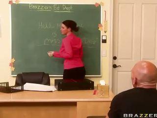 Busty Teacher Sophie Dee Having Sex In The Class Video