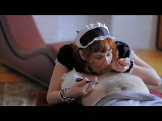 Camille Crimson - Redhead Gives a French Maid Blowjob