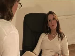 British mature Lady Sonia gets a spunk shot