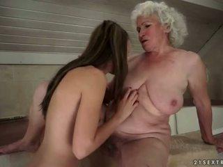lesbisk sex, gamla och unga, hd porn