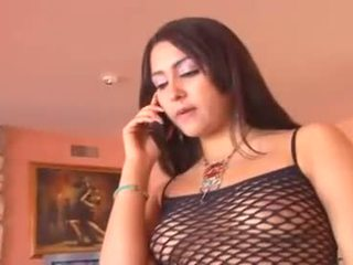 Saucy brunette Allie Ray dildo fucks her flange before a hot finger fuck