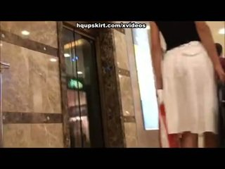 Exciting shopping mall upskirts