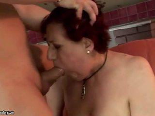 Molto grasso nonna getting scopata difficile