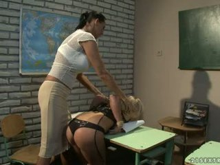Mandy Bright And Tara Pink Flogging In The Gazoo