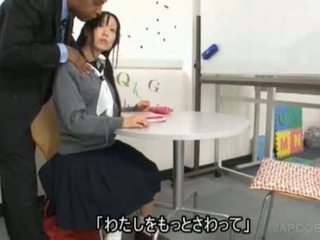 chaud japonais évalué, écolières voir