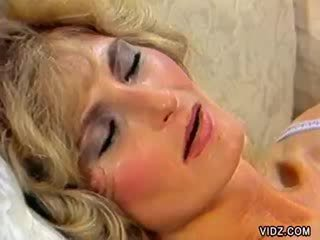 Blond prostitute experienced Blond stud's dong