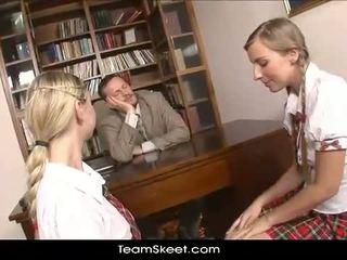 TeamSkeet European schoolgirls Mina and Morgan thr