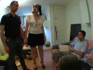 Coralie, french mature Gangbanged