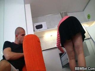 Nasty Bloke Poundes Nice Girl At The Kitchen