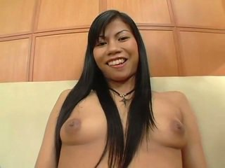 Asian Bitch Sucks Black Cock And Gets Fucked Hard