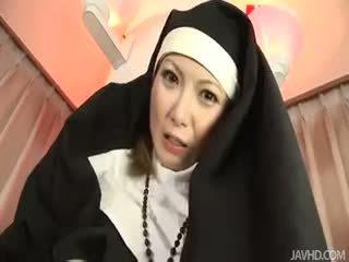 Sister Rika Sakurai Prays To The Sex Gods For A Soaking Wet