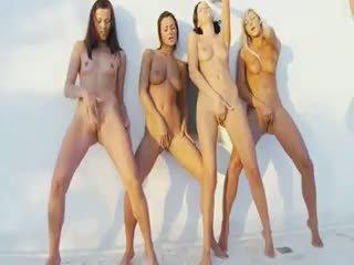 kwaliteit groepsseks, mooi kindje scène, echt lesbisch gepost