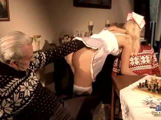 Old British guys DP their nurse