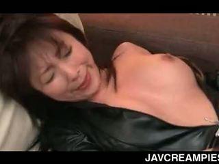 brunette, japanese, creampie, amateur