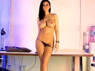 groot tieten video-, echt grote borsten video-, nominale brits scène