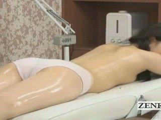 Subtitled японська школярка перший чуттєвий масло масаж