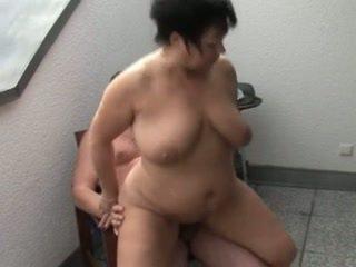 Bitchy Shorthair-BBW - Housewife fucked on Balcony