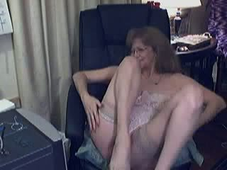 Monica 56 Years Granny fingering for her cam Video