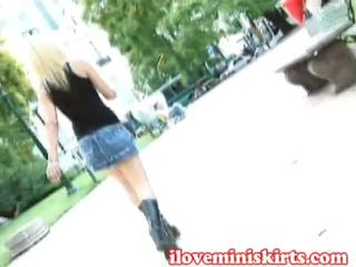 Teenie Acquires Stretched Wearing The Spicy Miniskirt