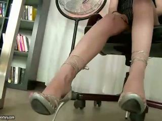 Spicy Secretary Presenting Off Her Hot Feet