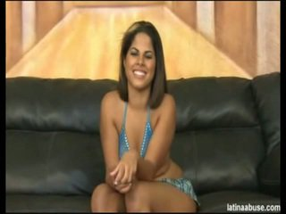 """Elana Is The Spicy Faced 19 Year Mature Cuban, Definitely Lacking In A Titty Department, But Overall Worth The Bangin'. She Went Nice In """"Cock Shock"""" 10 Seconds After Being Onto Her Knees. It's Lik"""