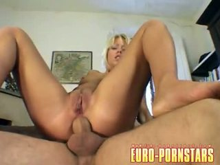 Golden Haired Babe Lucy Anne Receives Her Chocolate Hole Drilled By A Meaty Cock