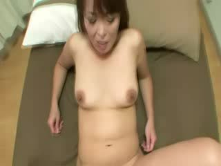 Asian mature gets her hairy vagina nailed