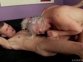 zuigen seks, beste oud, heet grootmoeder