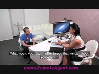FemaleAgent MILF fucked on her own desk