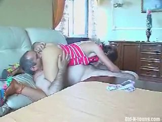 Older plumber fucks younger girl in a free movie