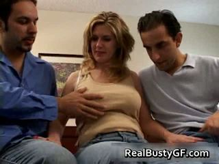 Gorgeous Mom Handling Two Raging Dicks