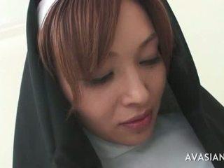 Beautiful Asian Nun Gets Gangbanged