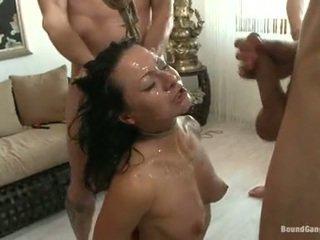 Sandra romain coquette haben cumming drops aus ein würzig chaps