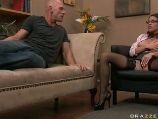 u brunette mov, hq wit scène, controleren pijpbeurt porno