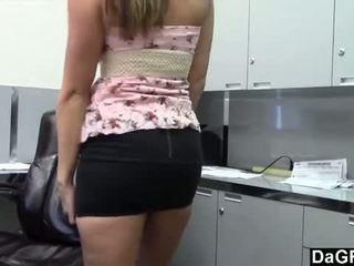 DaGFs: Slutty whore enjoys cock in her work place.